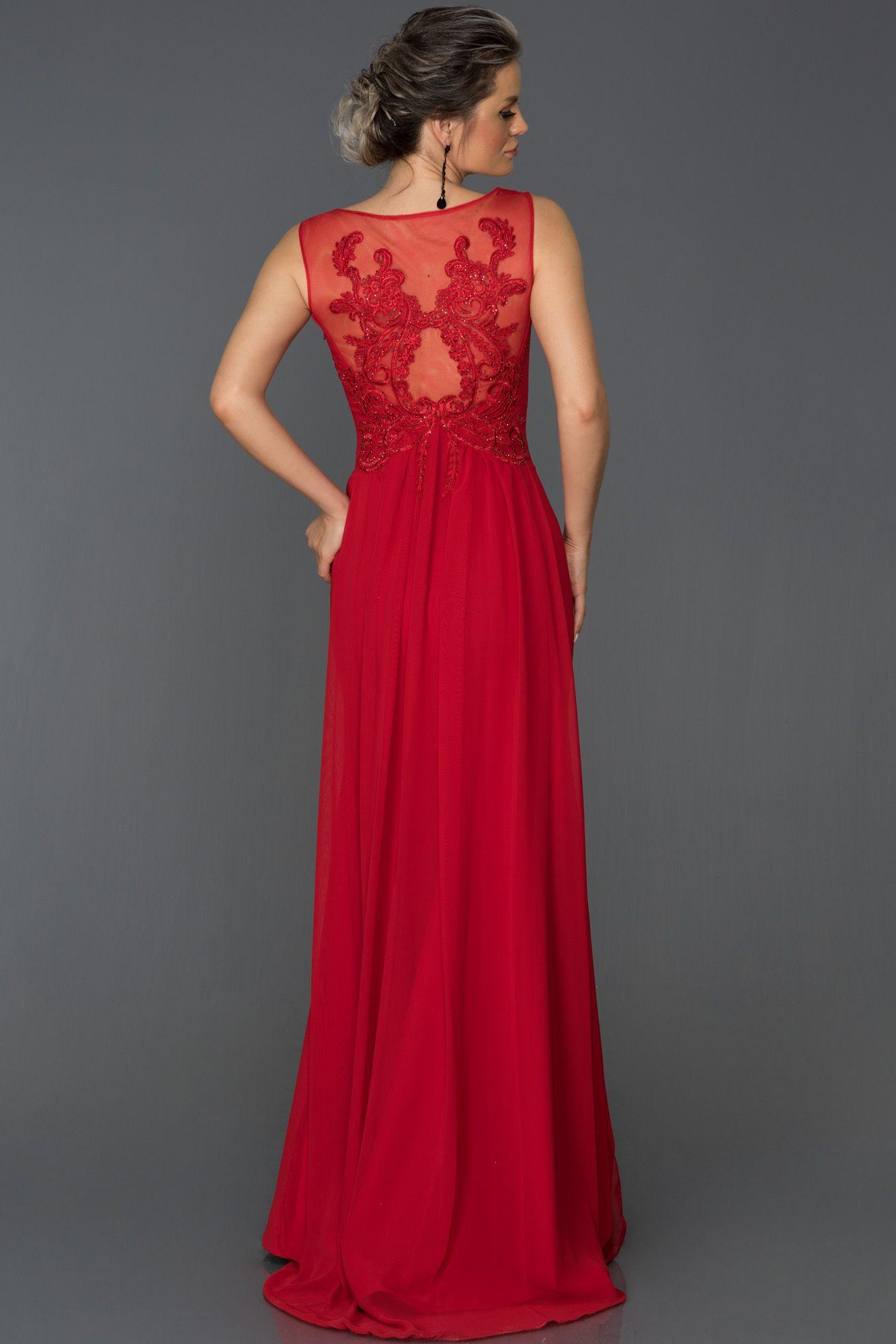 a0bfee1297ffa V Yaka Uzun Abiye Elbise AB7052   abiyeler elbiseler   Elbise ...