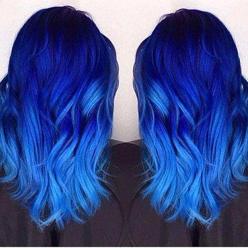Imagen De Blue Hair And Hairstyle Hair Styles Hair Color Blue Popular Hair Color