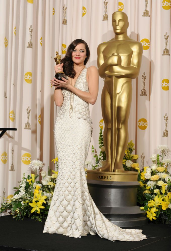 Marion Cotillard Best Actress Oscar For La Vie En Rose