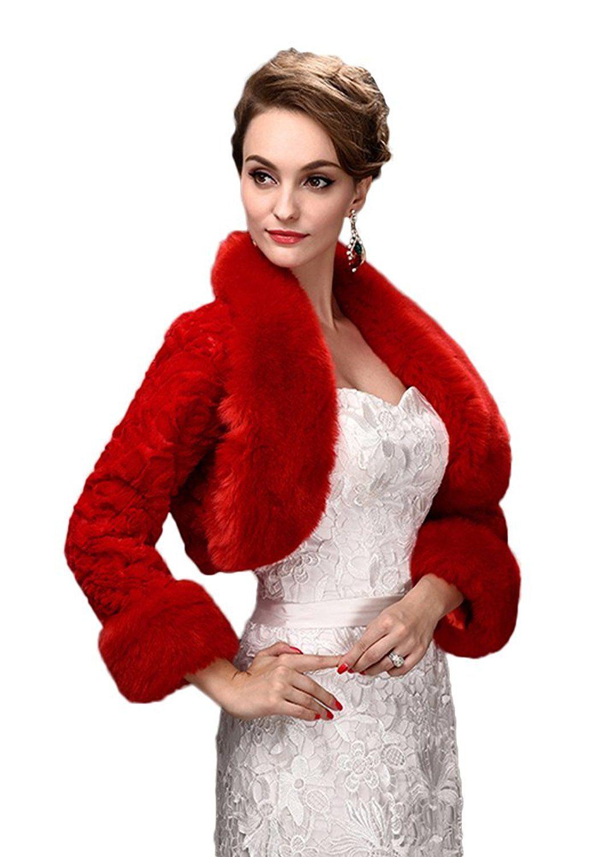 SK Studio Women's Faux Fur Warm Dress Shawl for Winter