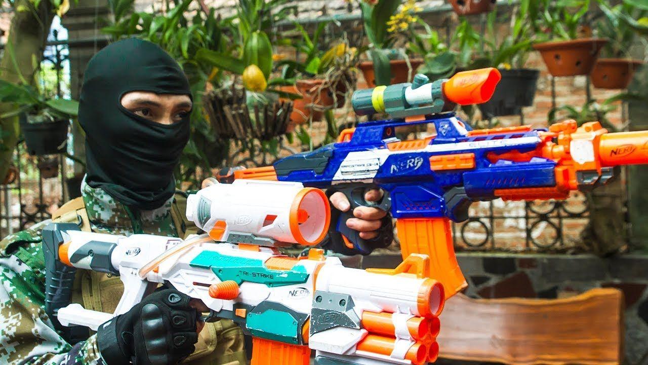 Nerf War Game: SWAT & Elite Army Nerf Guns Special Surveillance Boss Ner.