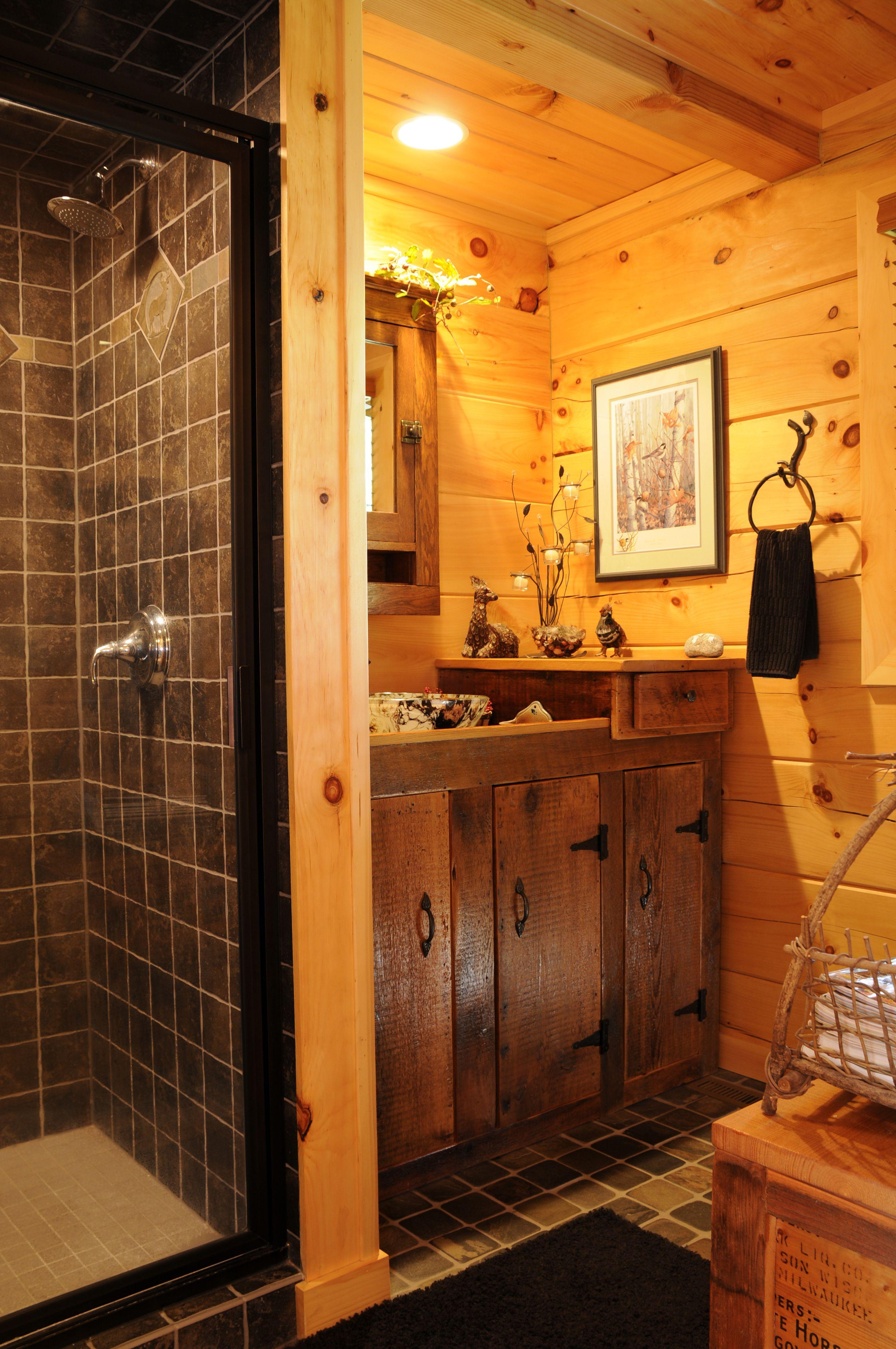 Rustic cabin bathroom. bathroom bathroomdesign