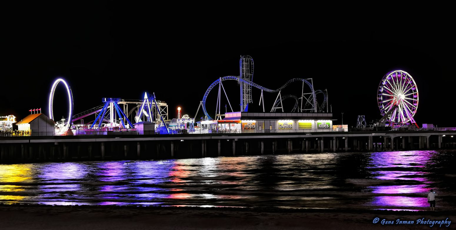Galveston Island Beach Texas Pleasure Pier