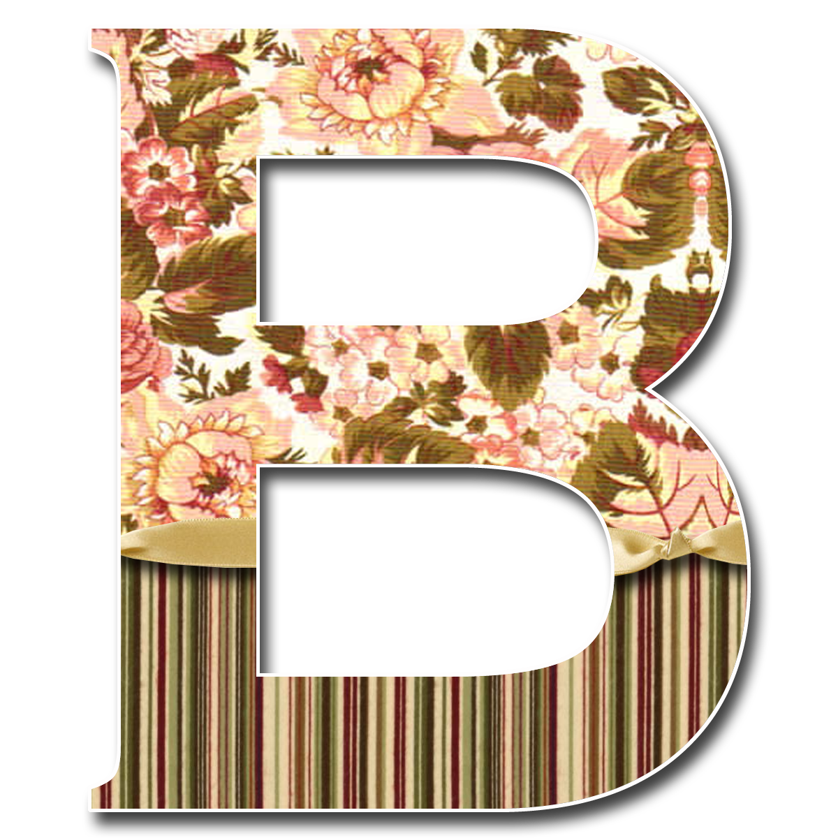 How to scrapbook letters - Capital Letter B Tan Stripe Png 1 200 1 200 P Xeles