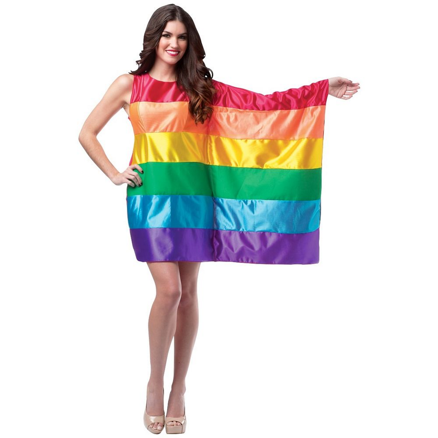 354b853e1c62 Make a hilarious statement with this colorful rainbow costume. Features…