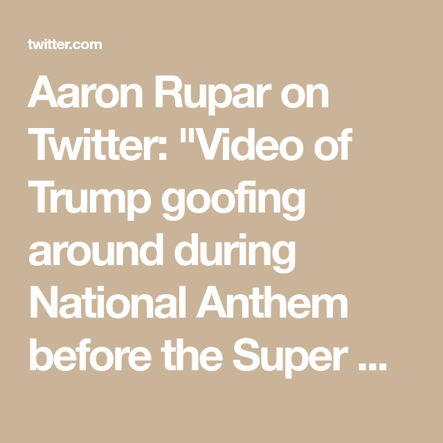 Aaron Rupar On National Anthem Instagram Story Twitter