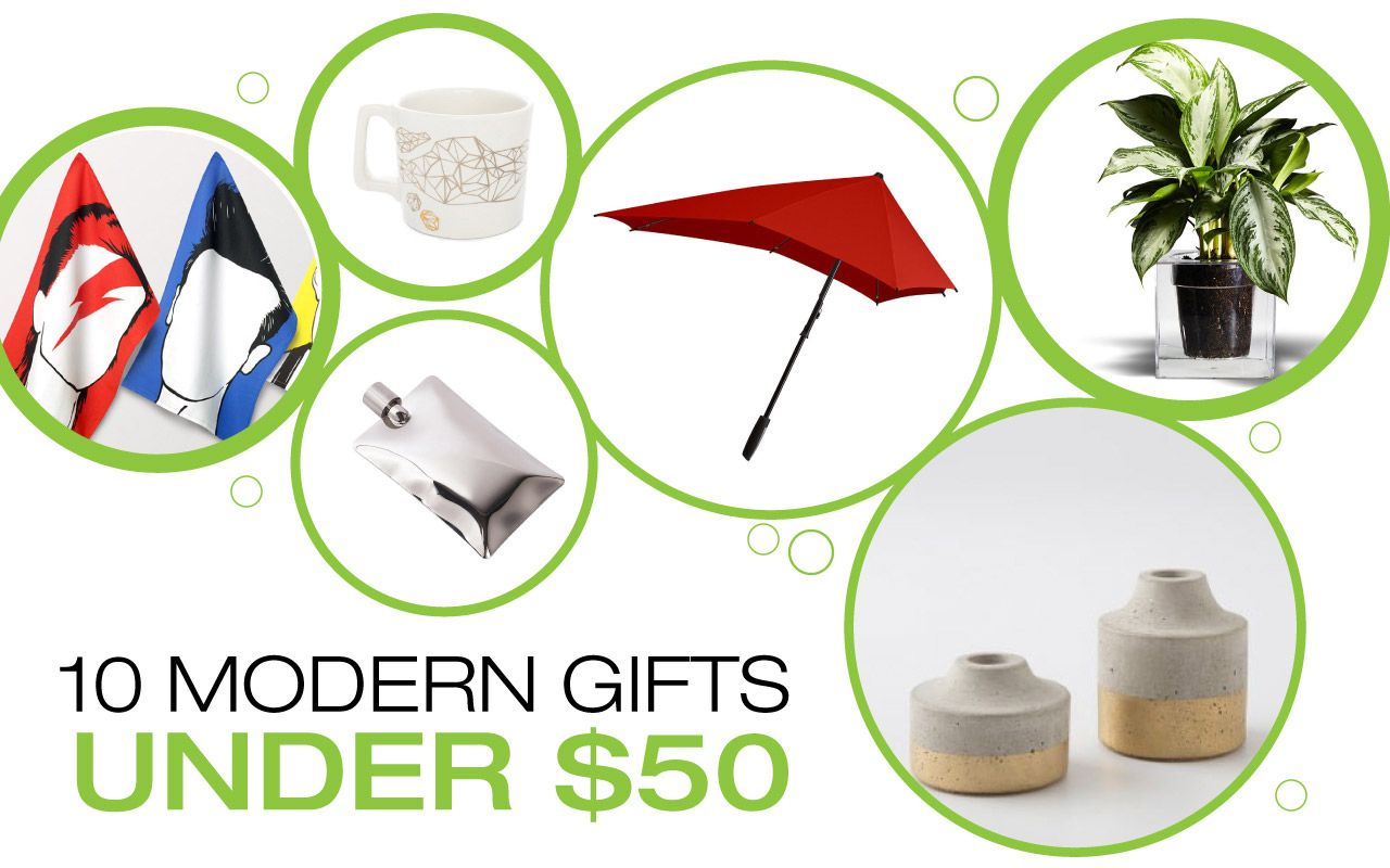 A Holiday Gift Guide That Features An Eclectic Mix Of Unique Modern Gifts Under