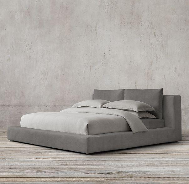 Best Cloud Slipcovered Platform Bed Modern Platform Bed 400 x 300