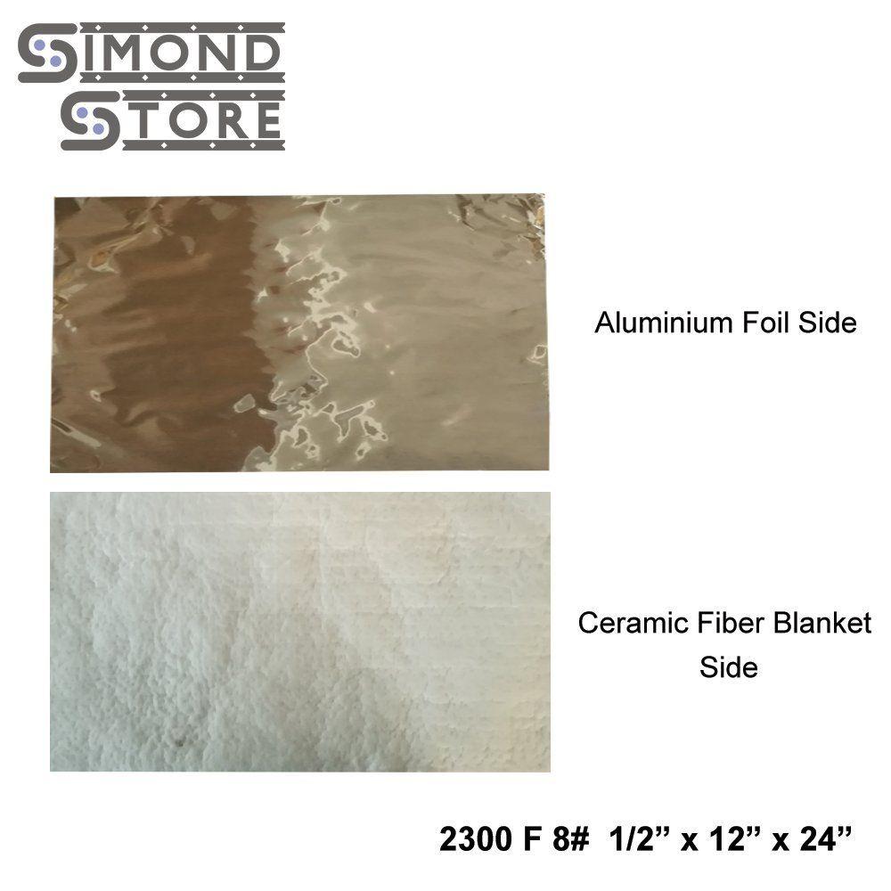 Aluminium Foil Faced Ceramic Fiber Blanket 8 Density 2300f 1 2 X 12 X 24 For Insulation Of Chimney And Exhau Ceramic Fiber Blanket Ceramic Fiber Aluminum Foil