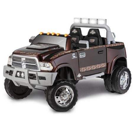 kid trax ram 3500 dually longhorn edition 12 volt battery powered ride on