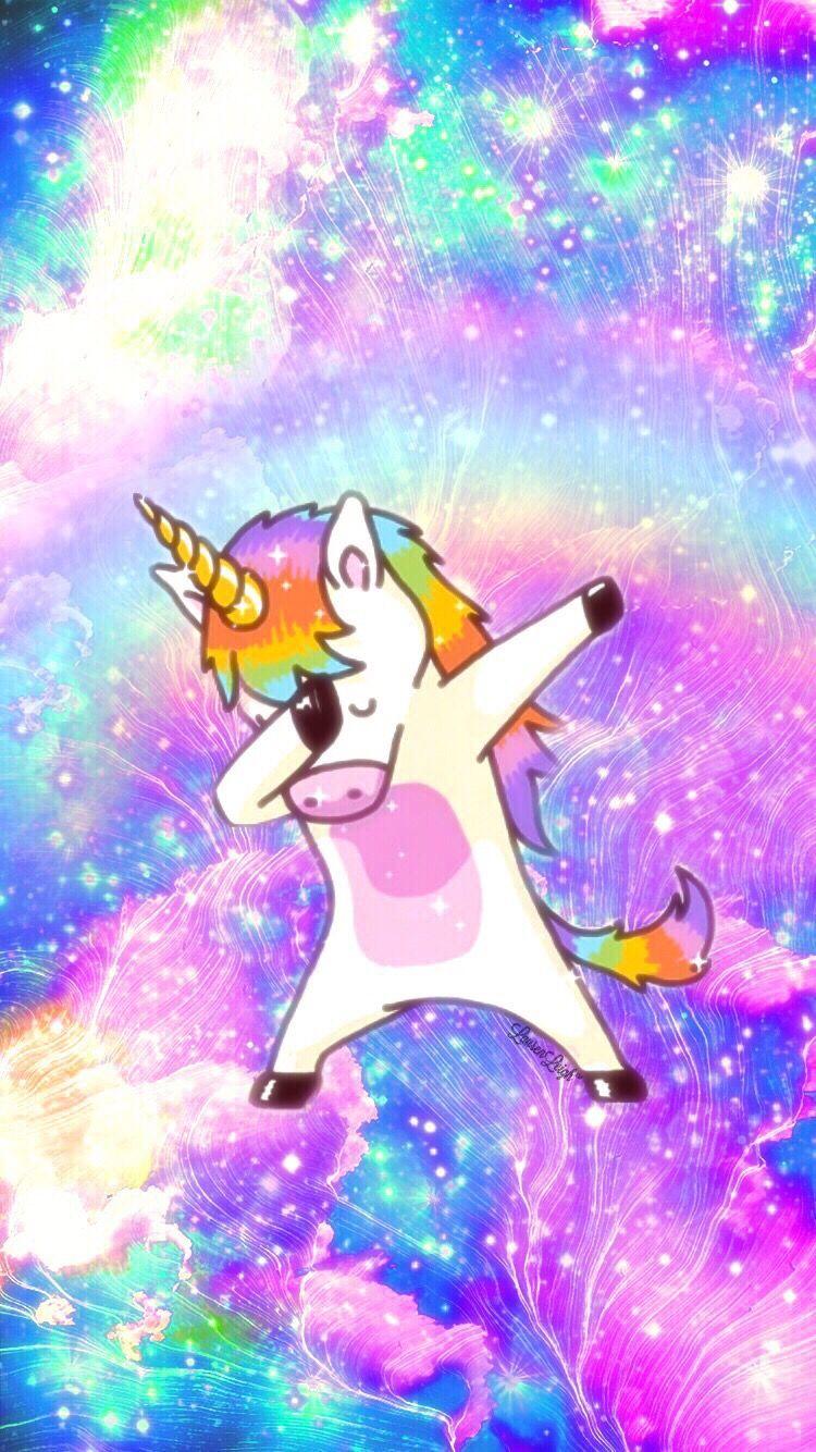 A dabbing unicorn awesome 🦄