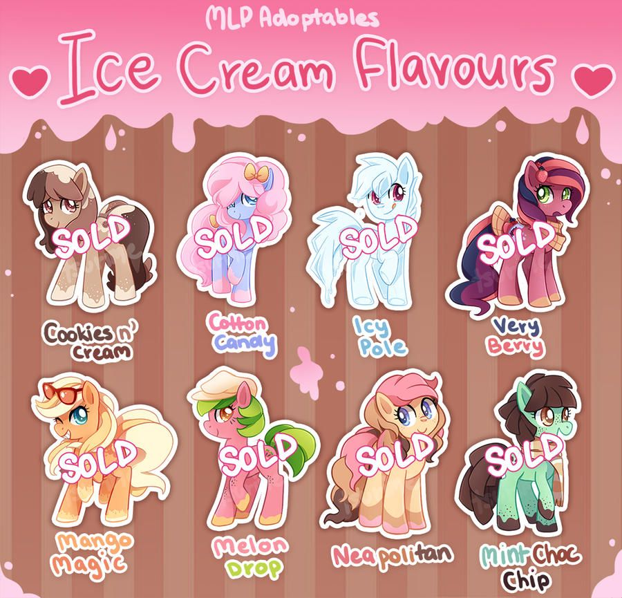 Pony Adoptables Ice Cream Flavours Closed By Tsurime On Deviantart Ice Cream Flavors My Little Pony Wallpaper Mlp Pony