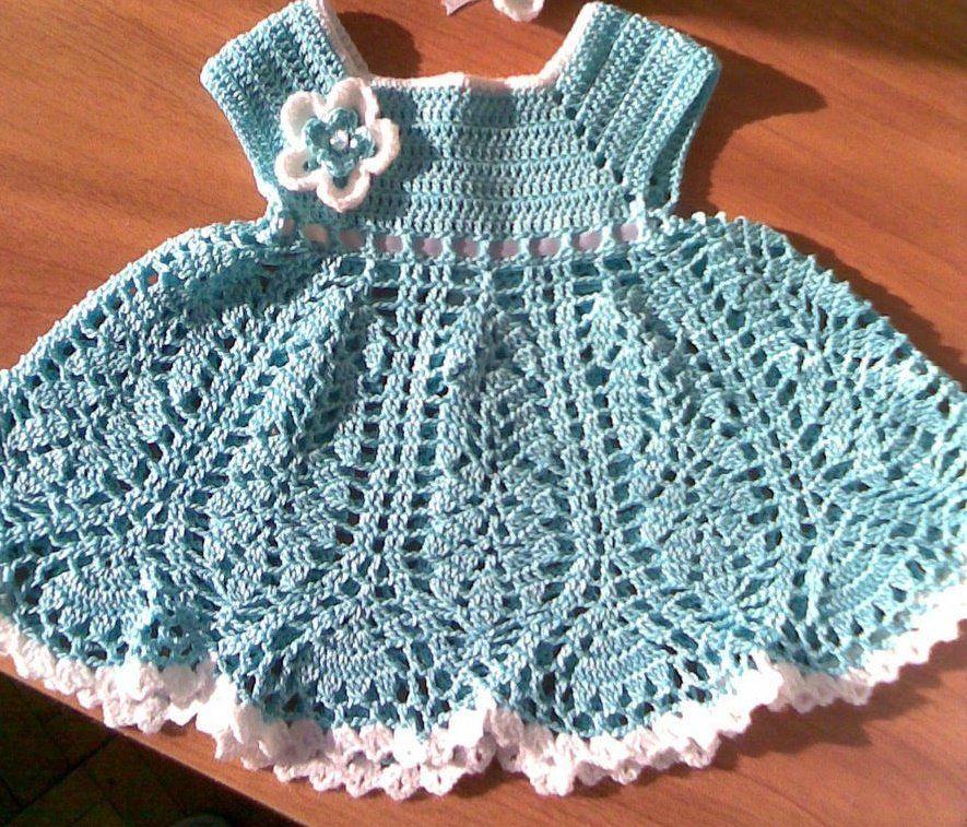 Платье крючком для маленьких девочек схемы и описание
