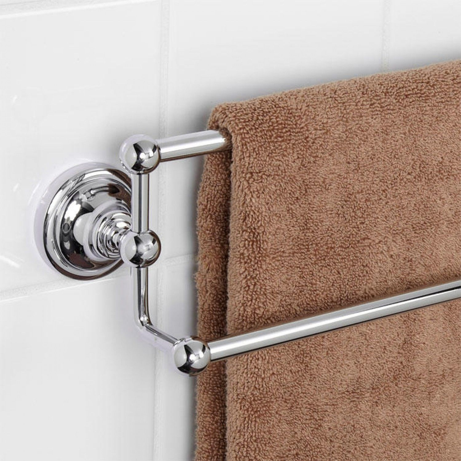 Holliston double towel bar towel holders bathroom - Bathroom towel holders accessories ...