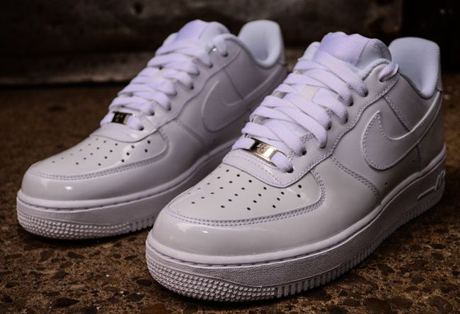 finest selection 97987 7d25d Nike Air Force 1 Low White on White Patent