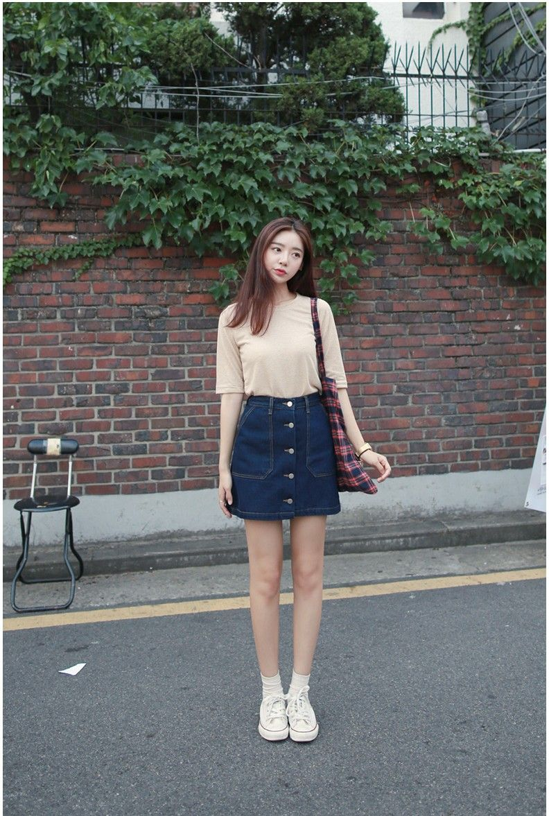 Lulu Pocket Denim Skirt | Korean Fashion | STYLE | CLOTHES ...