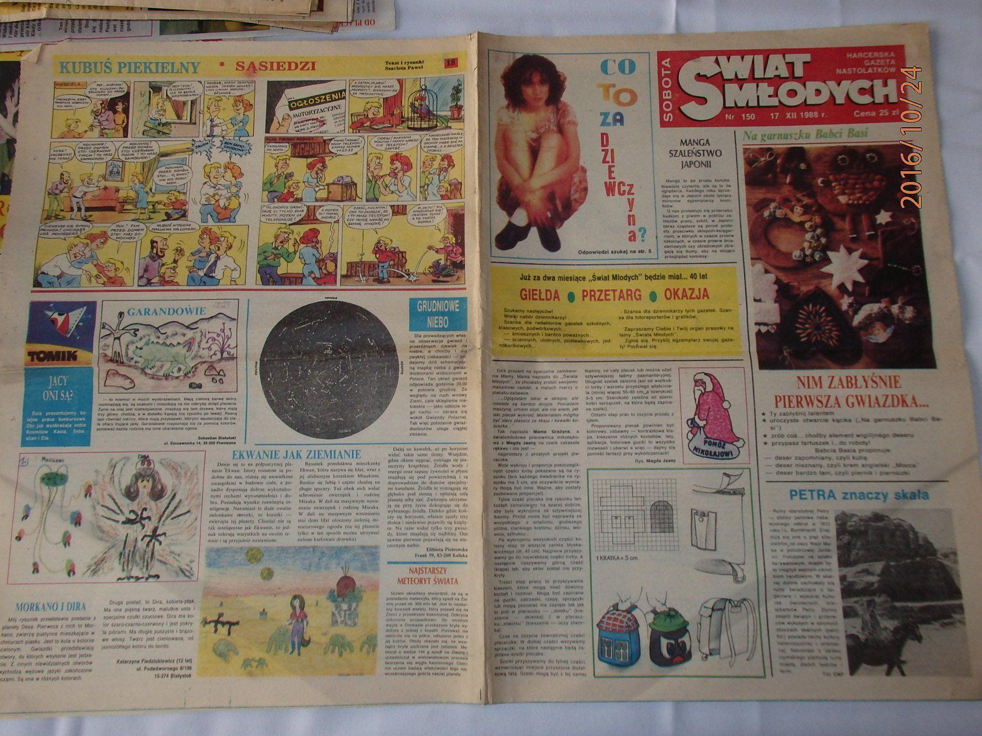 Swiat Mlodych Kubus Piekielny Nr 18 1988r 6646951724 Oficjalne Archiwum Allegro Book Cover Books Cover