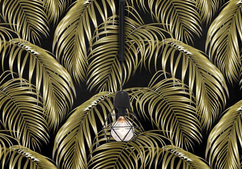 Gold Leaf Tropical Wallpaper Tommy Bahama Beach House Decor Tropical Wallpaper Wallpaper Beach House Decor