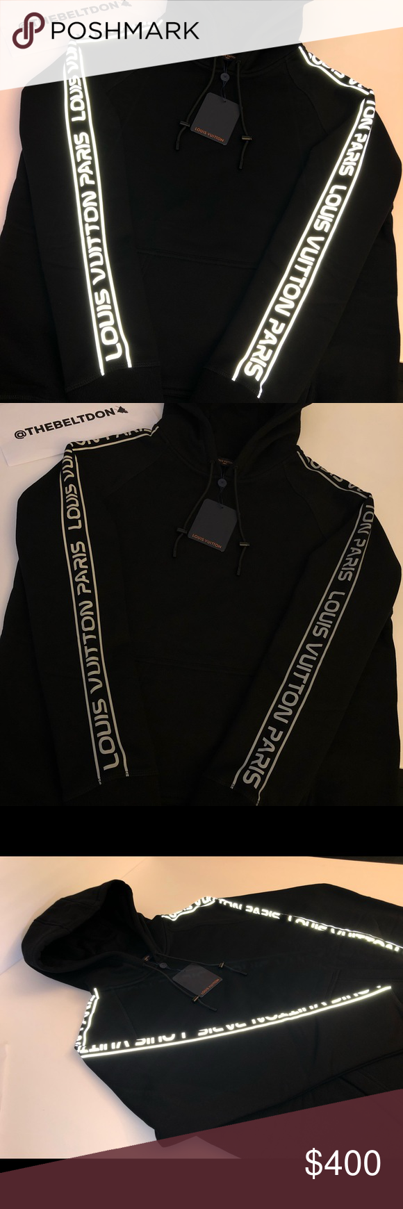 a7276a76988 Lv hoodie LV Reflective Sleeves Gravity Hoodie🌑💿 Louis Vuitton ...