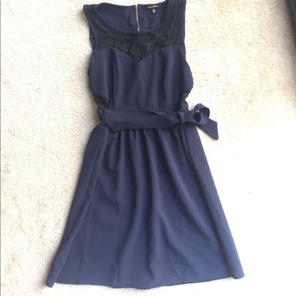 Bundle Only Blue Black Classy Lace Dress