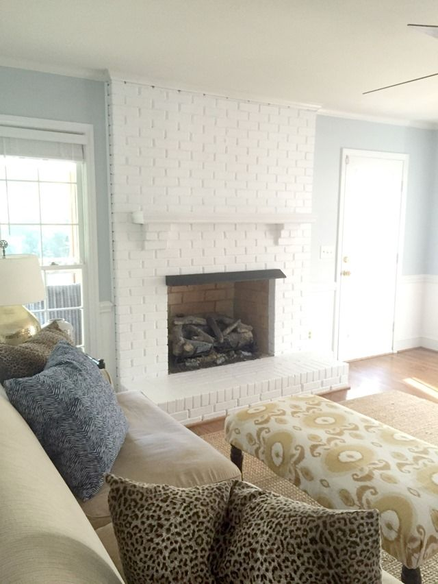 Painting Our Brick Fireplace White Williamsburg Paint By