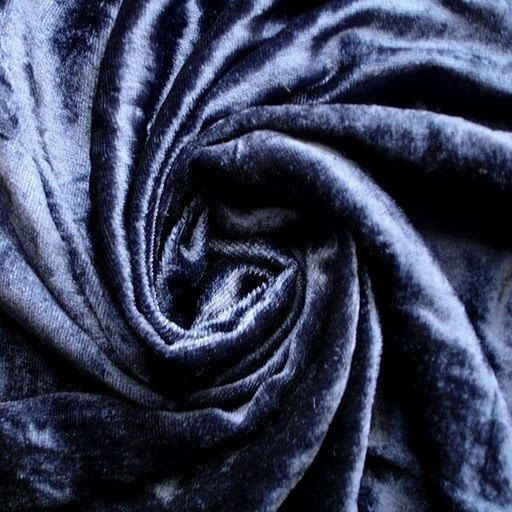 Navy Blue Velvet Fabric Yardage Commercial Curtain Fashion Upholstery De