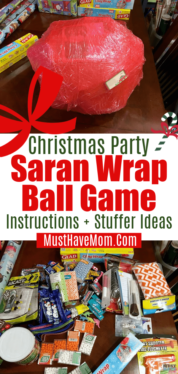 Christmas Party Saran Wrap Ball Game Instructions Ideas Girls