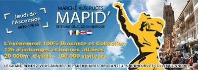 affiche MARCHE AUX PUCES INTERNATIONAL DE DUNKERQUE