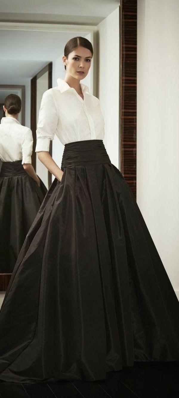 Comment porter robe noire longue