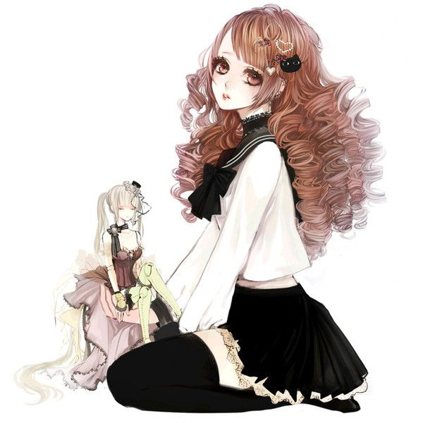 Bare Shoulders Black Thighhighs Blonde Hair Closed Eyes Curly Hair Liked On Polyvore Immagini
