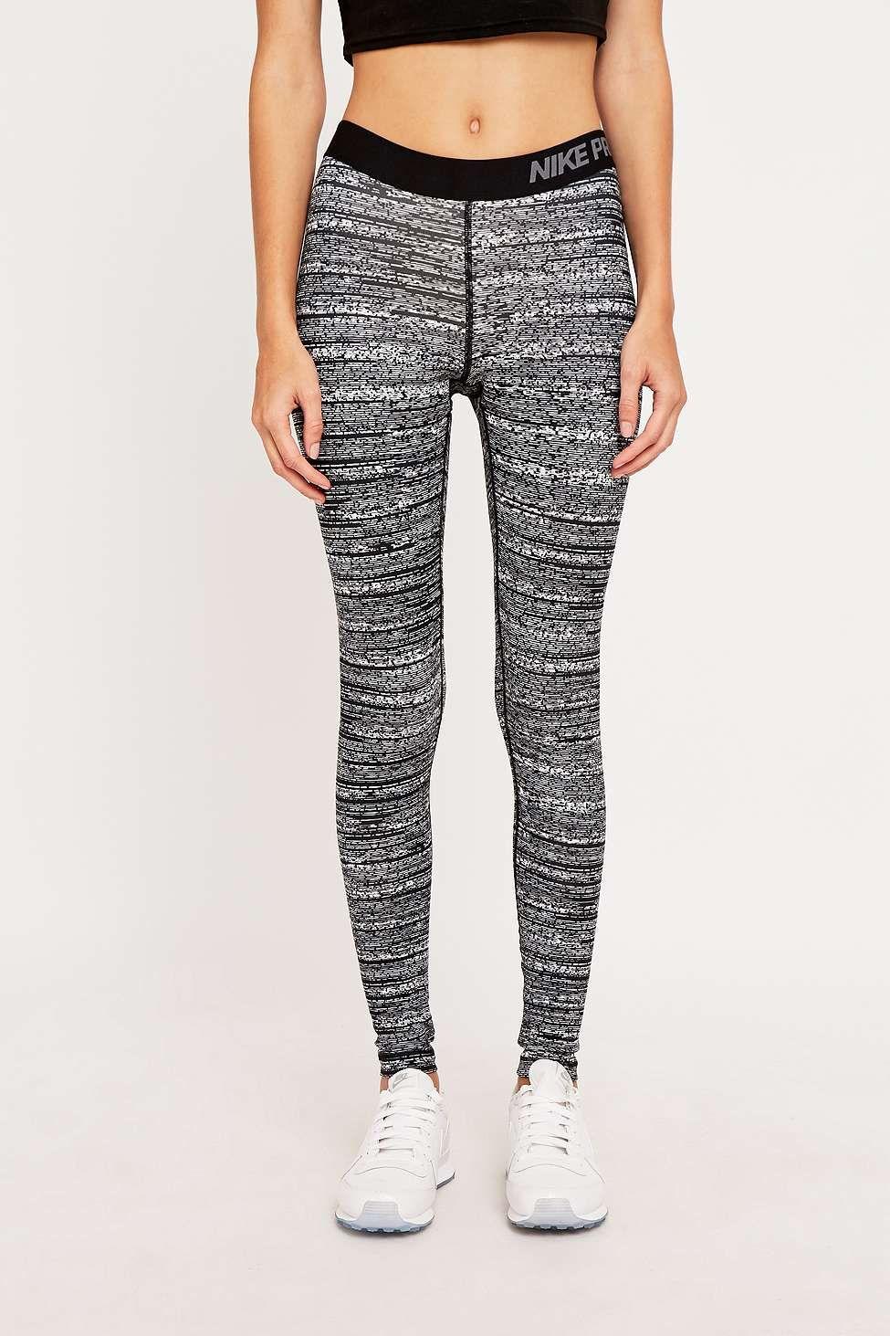 2bdc2d53968b3 Nike Pro Grey Print Leggings | WISH LIST | Printed leggings, Nike ...