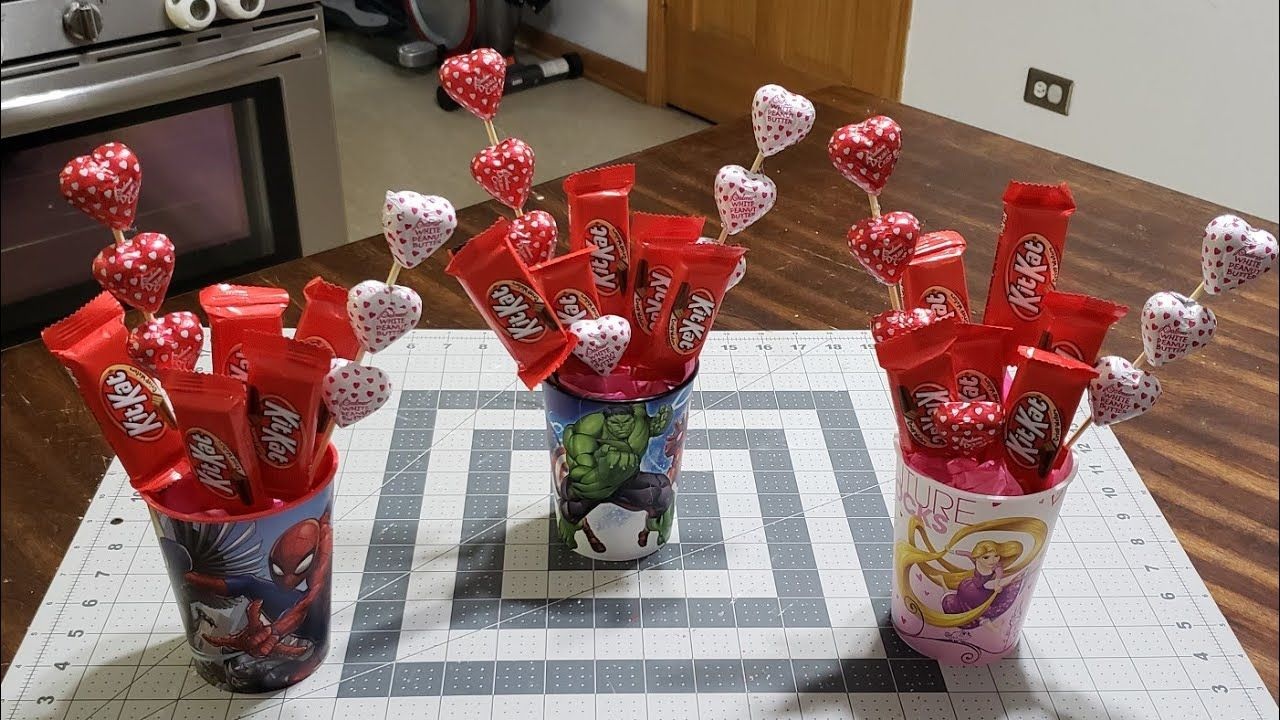 #candybouquet #valentines #candycenerpieces Diy Candy
