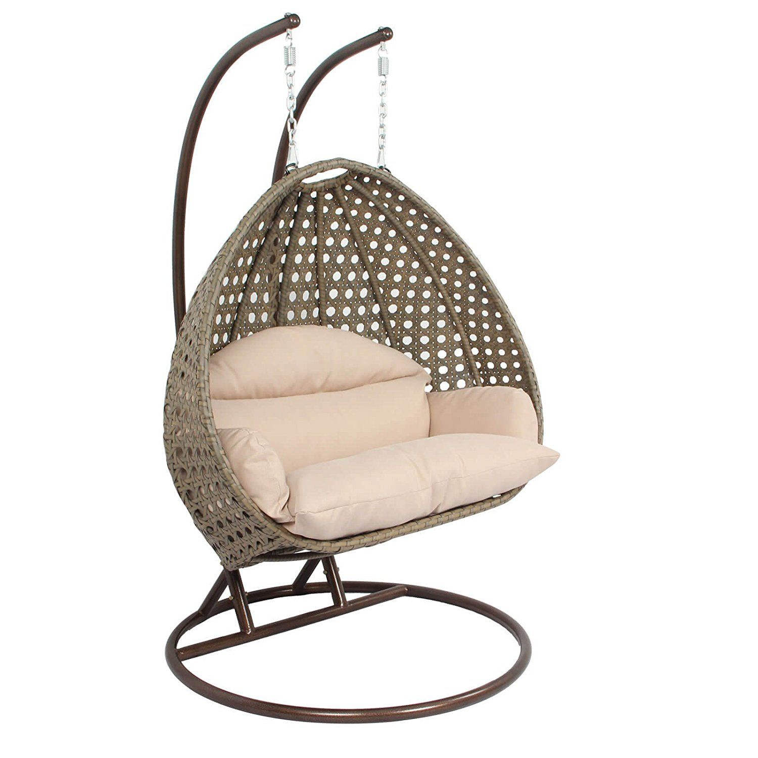 swing chair with stand amazon kit com luxury 2 person hanging egg by island gale outdoor patio furniture hammock w cushion max