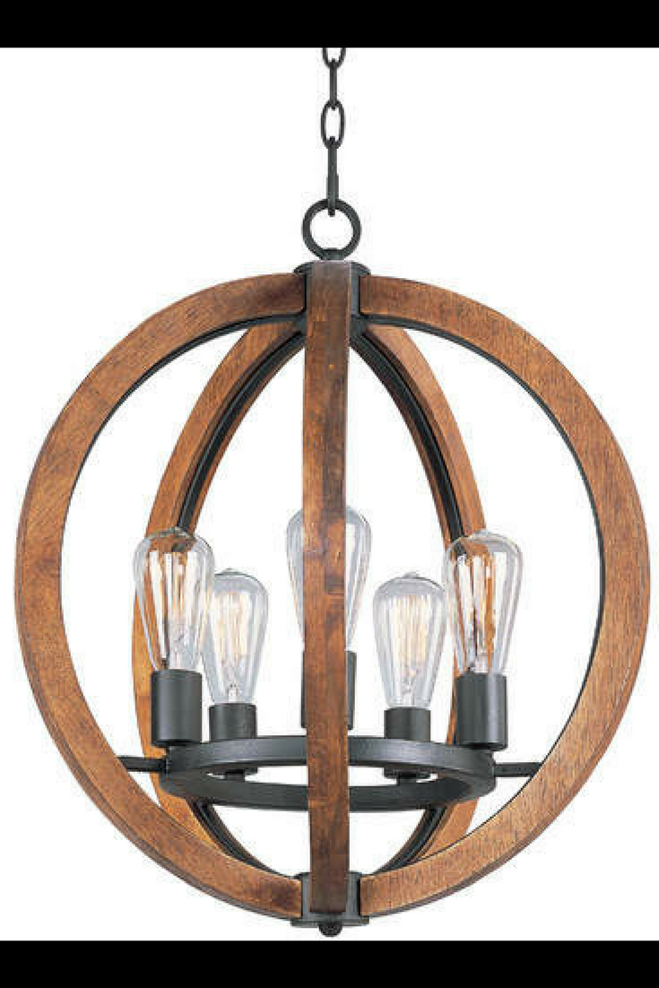 Rustic modern look laurel foundry modern farmhouse orly 5 light foyer pendant