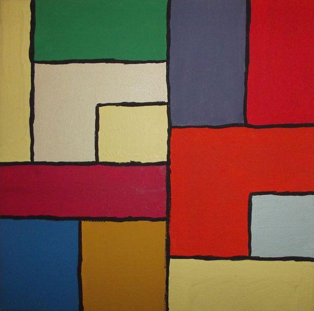 Color Block Art Painting Free Stock Photo Block Painting Art