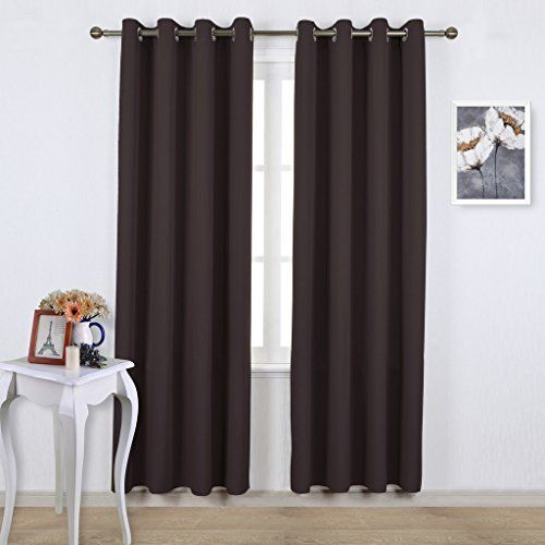 Nicetown Bedroom Blackout Curtains And Drapes Energy Smart Thermal Ins Cool Curtains Thermal Insulated Blackout Curtains Insulated Blackout Curtains