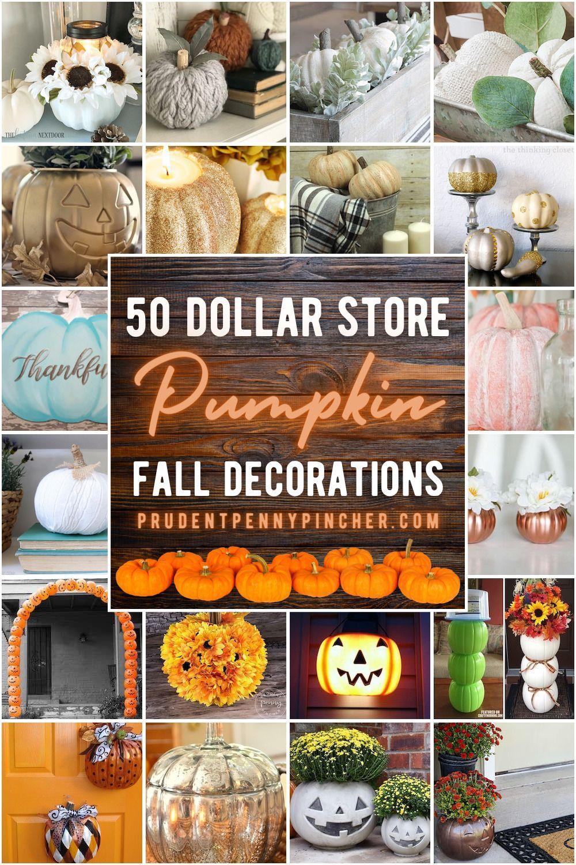 50 Dollar Store Pumpkin Fall Decor Ideas In 2020 Pumpkin Fall Decor Fall Decor Fall Pumpkins