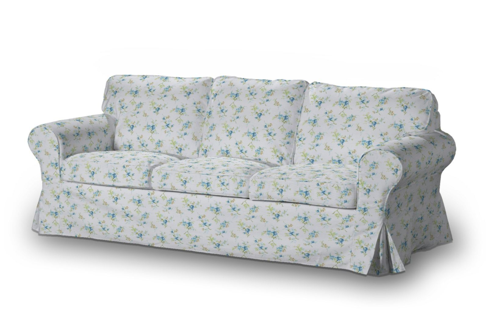 ektorp 3 seater sofa cover blue flowers on white background from rh pinterest ca