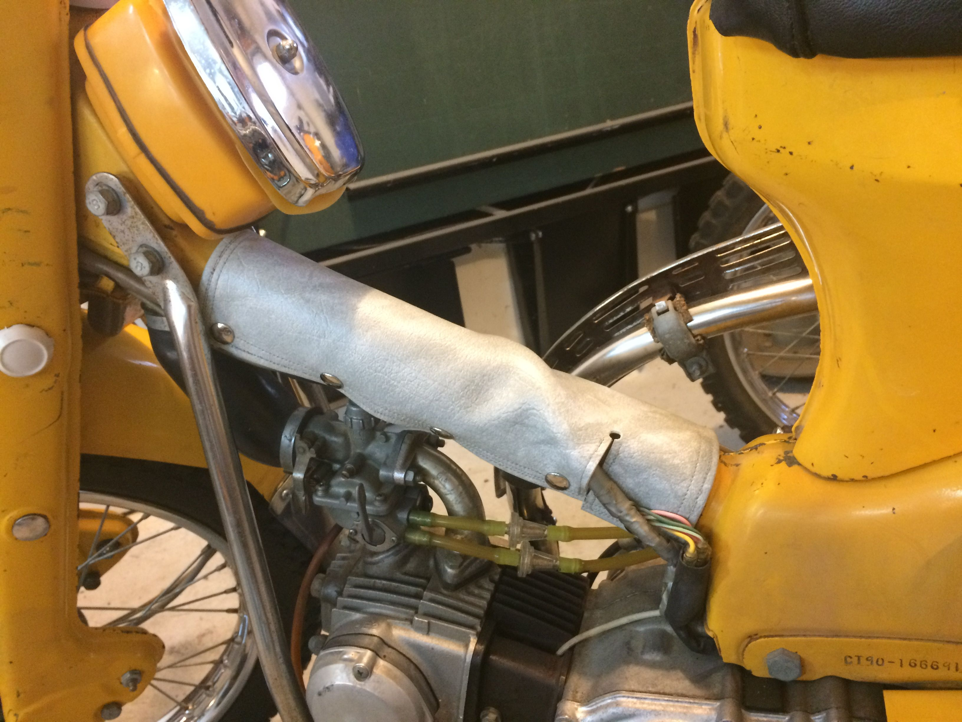 Honda Ct200 Points And Condenser Ct90 Ct110 Hondatrail 1974 K4 Wiring Diagram Make Your Own Vinyl Down Tube Cover Is Really Pretty Straight Forward I Have Provided Instructions On How To One At My Blog