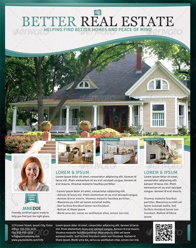 Better Real Estate Flyer Template Design Bookmarks