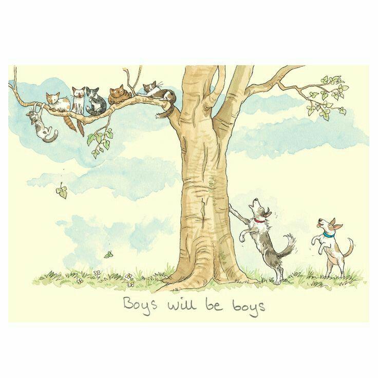 Barking up the wrong tree Anita jeram, Animal art