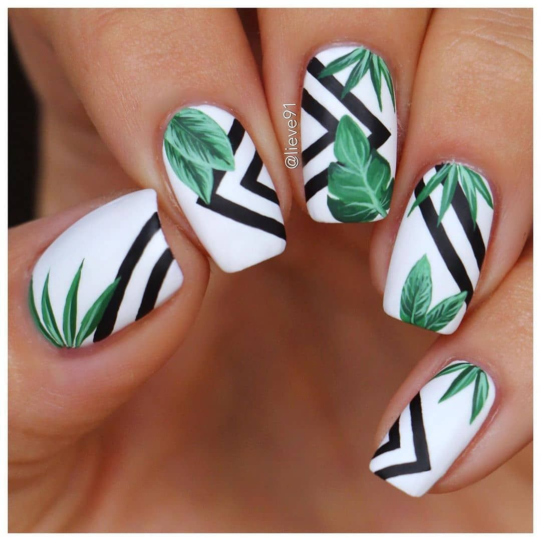 "AleliMultideas on Instagram: ""#nailsofinstagram #tropicalnails #nailart #nailsdesign #esmaltadopermanente #manicure #nailsinternational by @lieve91"""