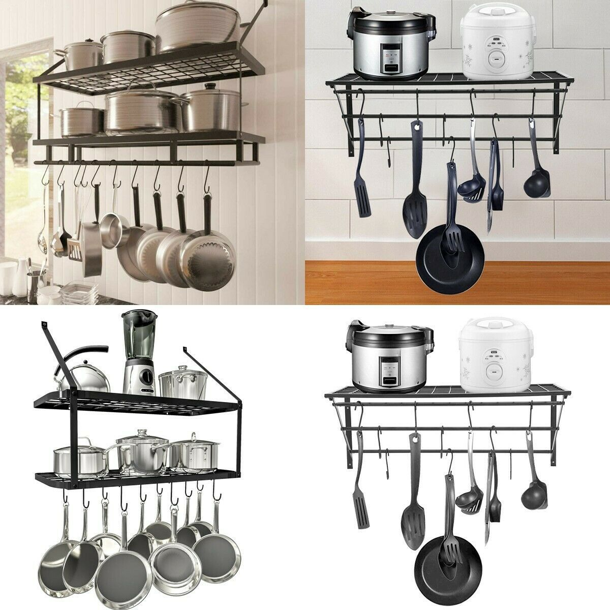 Rack Storage Kitchen Organizer Pot Pan