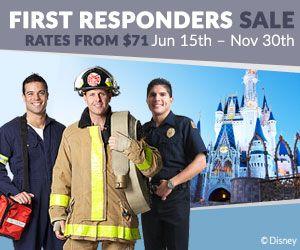 first responders downtown disney resort area hotels