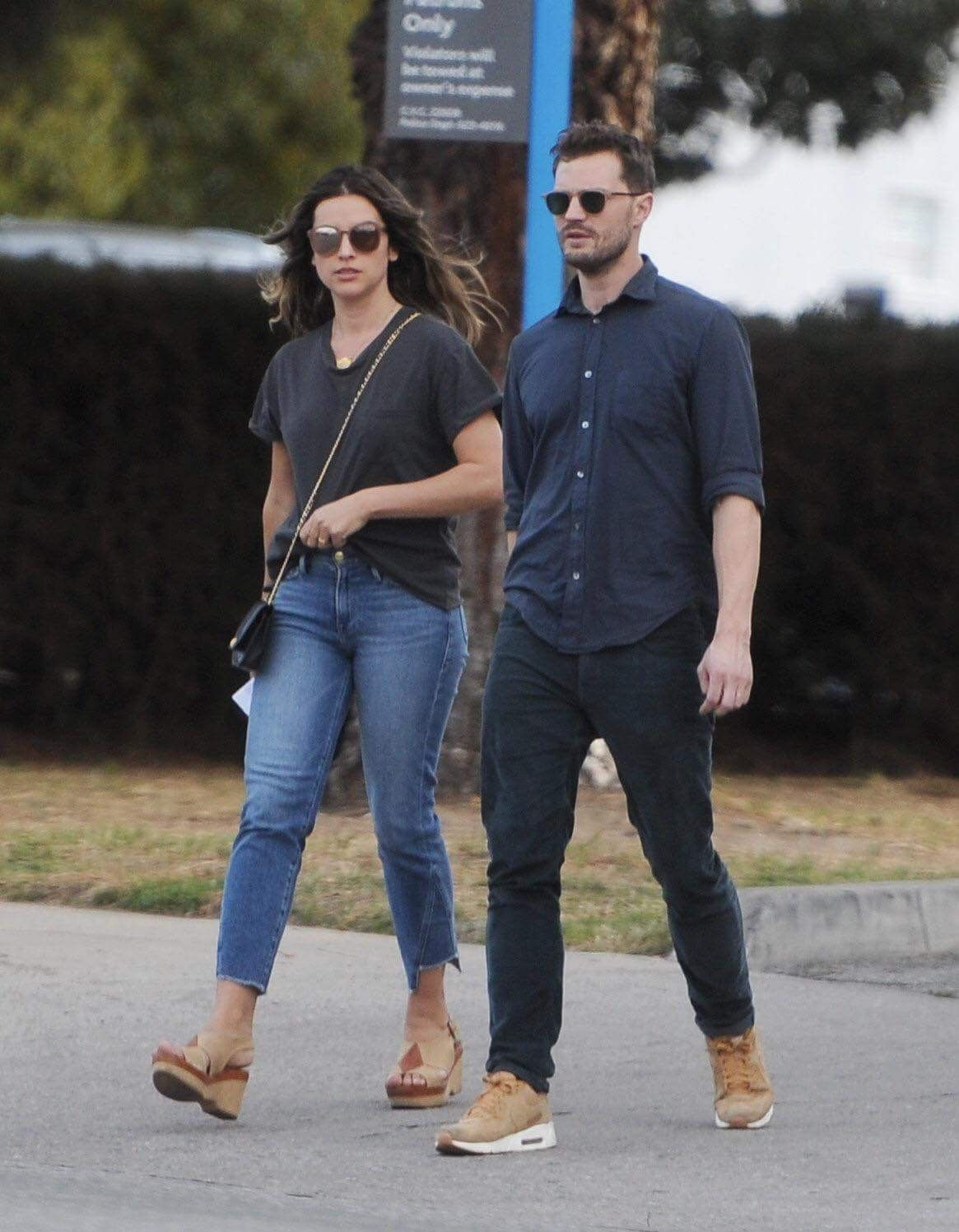 los angeles january 29 2018 jamie dornanamelia warner