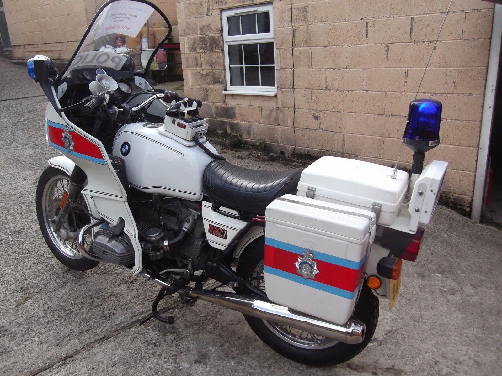 hight resolution of 1979 bmw r80 ex police motorcycle 800cc restored good runner poss film work ebay