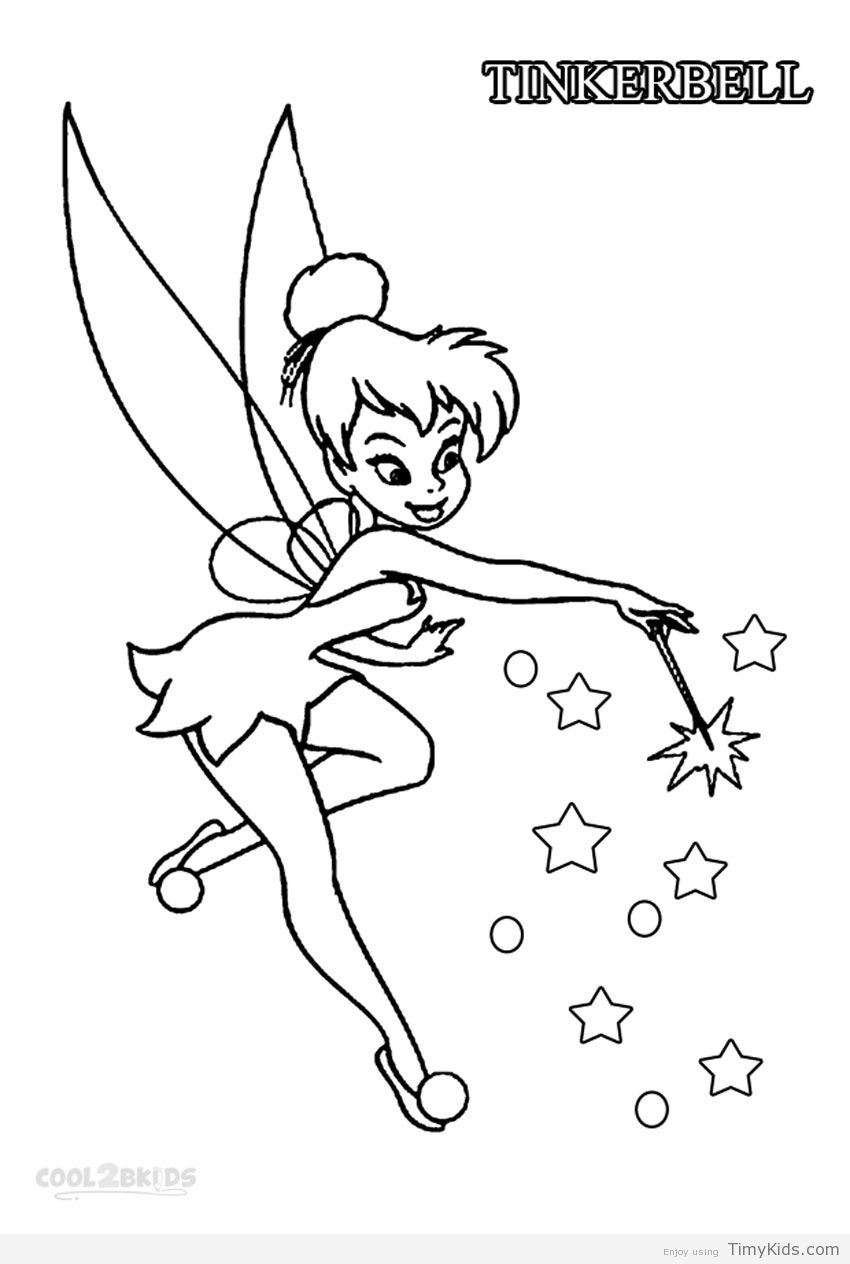 tinker bell coloring pages  Tinkerbell coloring pages, Disney