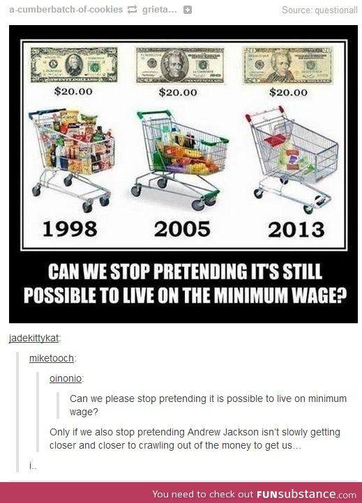 Minimum Wage Funsubstance Tumblr Funny Funny Posts Funny Memes