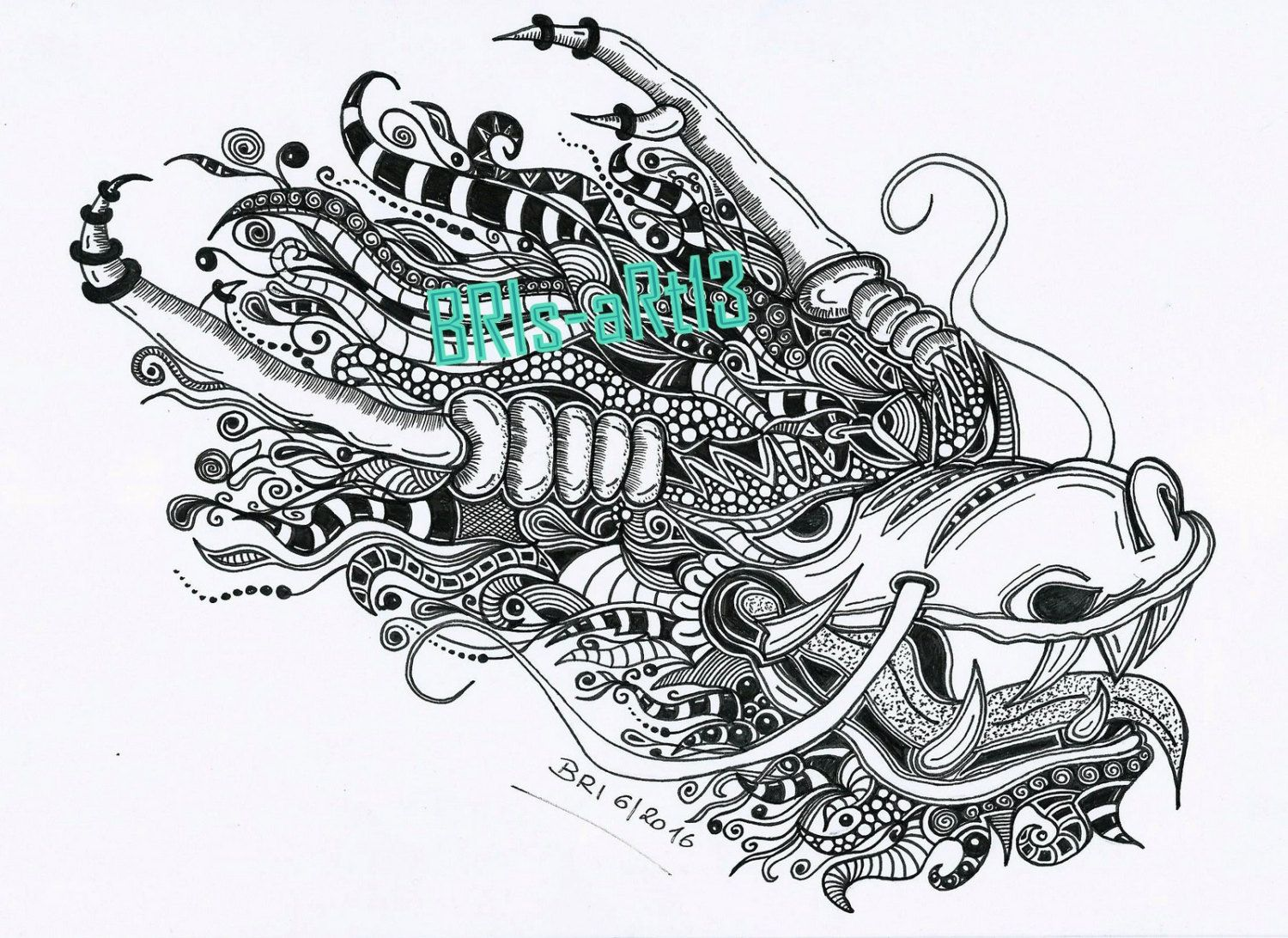 Disney zentangle coloring pages - Coloring Pages Adult Coloring Zenzia Drache Made By Bri Zendoodle