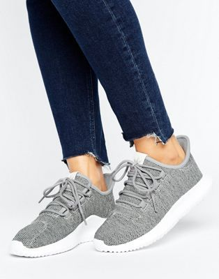 adidas Originals Grey Tubular Shadow Knit Trainers  9176be0d7bf0